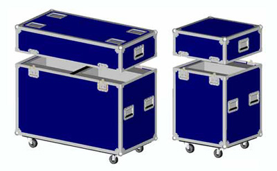 Blue RK Lighting flight Case for Two Moving Head Lighting
