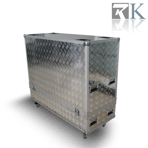 Aluminum Sheet Dual TVs Flight Case
