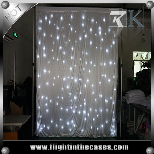 Romantic wedding backdrops star curtain for events show