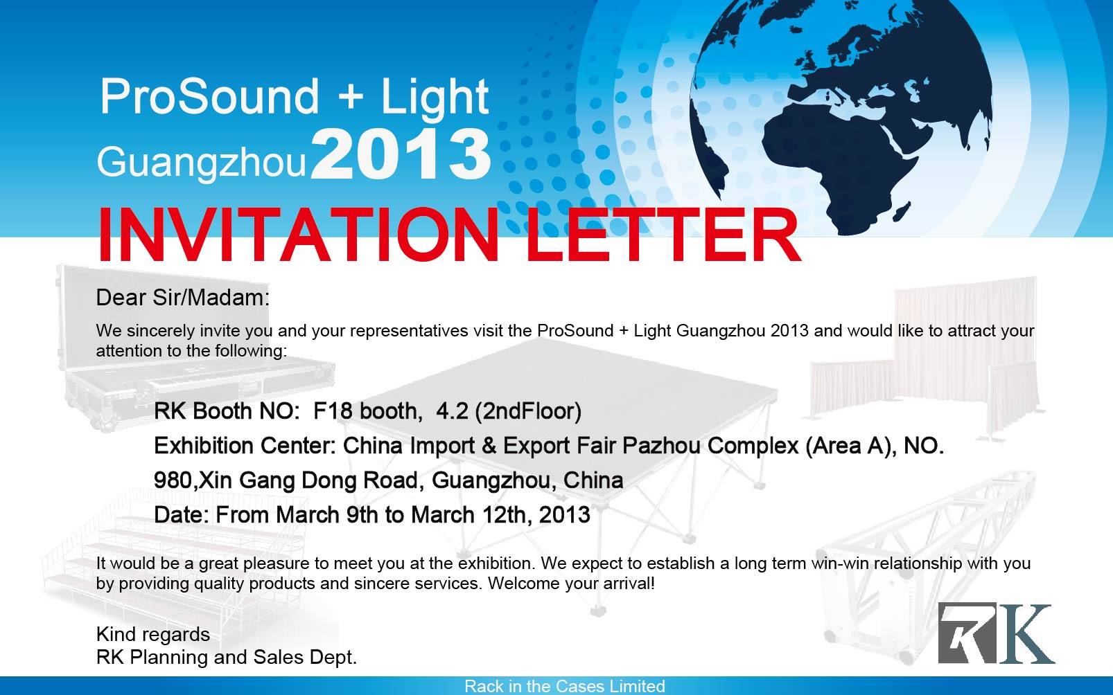 Pro sound light guangzhou 2013 invitation previous stopboris Choice Image