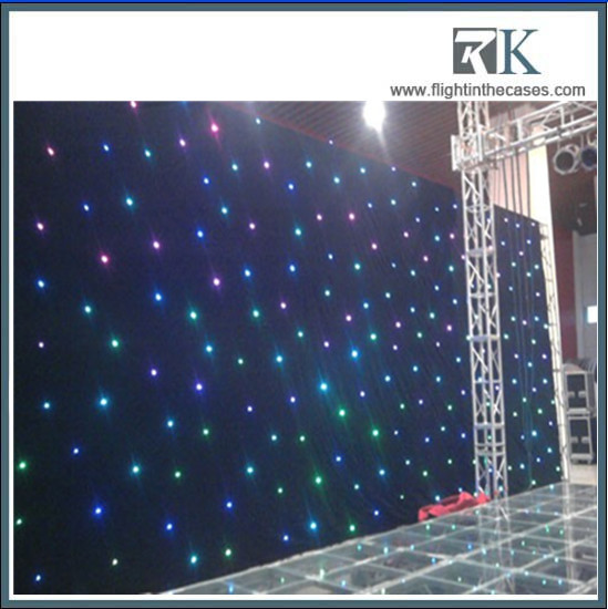 Flexible indoor for wedding stage backdrop decoration for Star curtain fabric