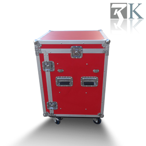 Red Four Drawers Display Flight Case