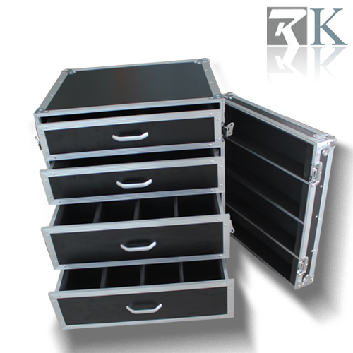 Four Drawers Display Case With Separative Cells Inside